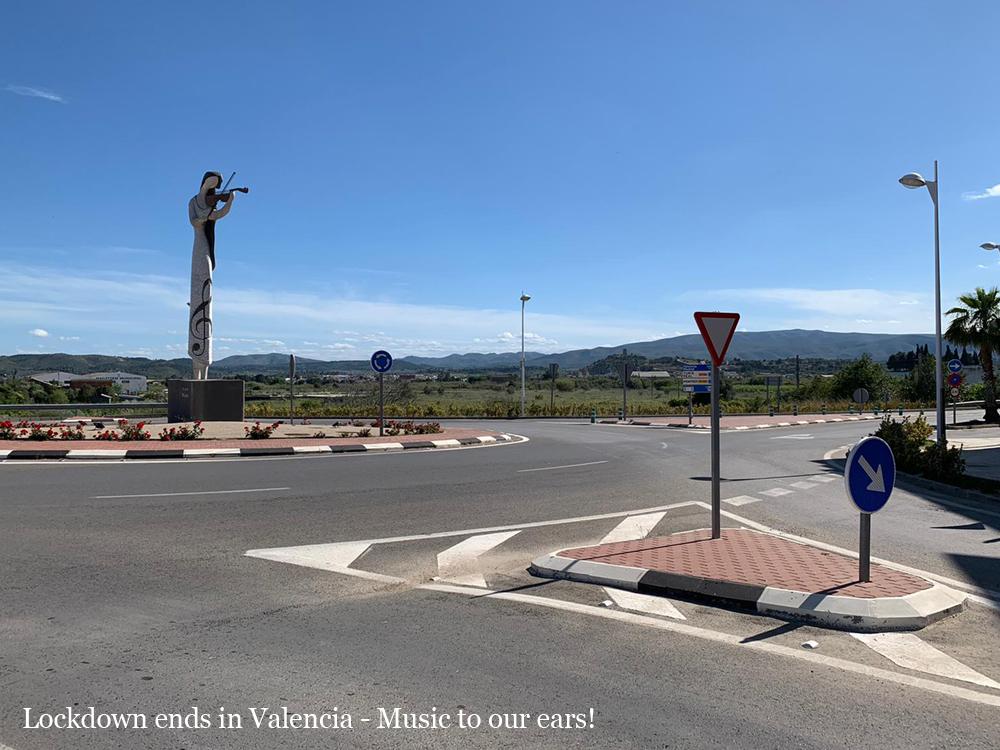 End of lockdown Valencia