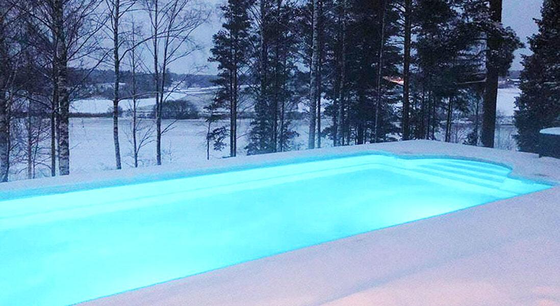 Pool in snow