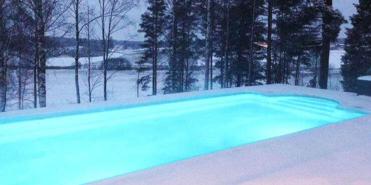 Swim all year round in your own swimming pool
